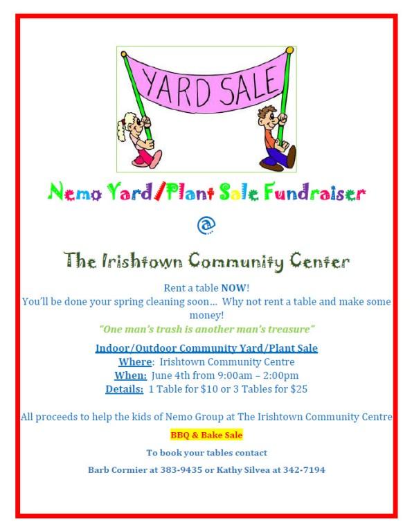 Nemo Yard Sale 2016